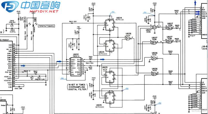 同步模式接tda1541