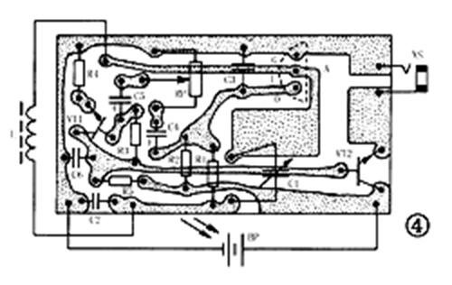 1.5v收音机电路焊接图