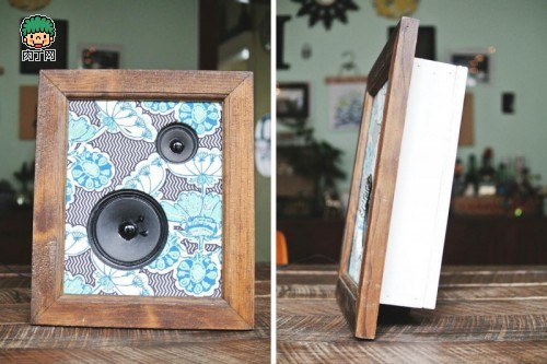 可爱复古的相框音响制作图解