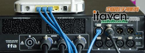 dsp的控制通过交换机,路由器或电脑(mac或pc)直接的连接功放背面网络
