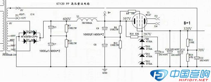 kt120pp分体推挽电路diy制作分享
