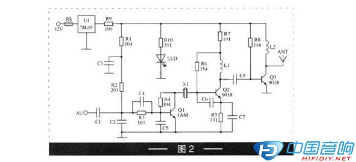 汽车音响mp3发射器电路剖析