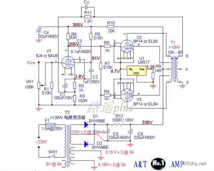 A&T NO.1 AMP电路图