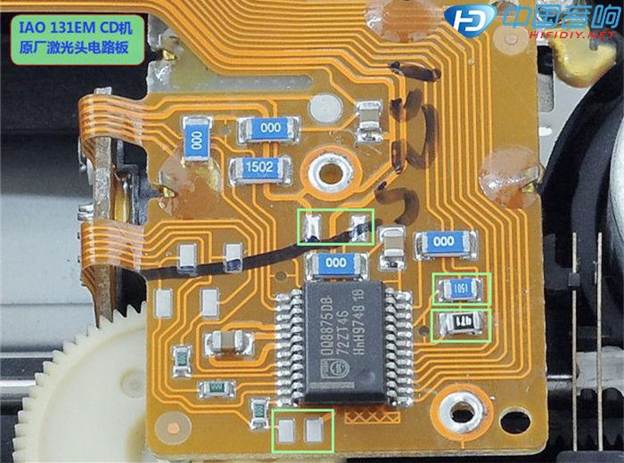 CDM12.10伺服板的代换 有CDM12.10新激光头,把原机芯上面的旧激光头换掉试机,机器不读碟,再换一光头试机, 仍然故障依旧,可以确定机芯伺服板有了问题,遇到了大麻烦,因这伺服板几乎是全用贴片元件,找不到可以代换的 同型号伺服板。 根据论坛朋友提供的电路图相关资料及指导,确定了机芯伺服板与CD机主板之间的联线接口定义,为后续用同类的 伺服板代换作好准备。先看一下原机伺服板的数字信号处理芯片SAA7372GP吧(伺服代换 图1)。