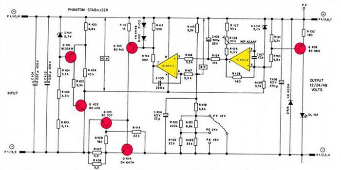 Q1Q5构成一个简单的稳压,纹波40uV(p-p),给运放供电,稳压管和U1A构成基准源,值得注意的是U1A输出端有300nV(p-p)的纹波,但经过C3R10构成的低通滤波器,到U1B输入端就变成了390pV(p-p),噪声在仿真体现不出,但照样会被这个低通滤波器衰减,所以普通稳压管也可以放心用,如果真的很介意噪声,用LED做参考会更好,但离散性/斜率什么的会稍差一点。 这里会还有个问题,运放选择上,并非参数越高越好,至于选什么运放,留给同学们思考 ^_^ 然后不得不提一下过流保护,保护曲线如下,保护