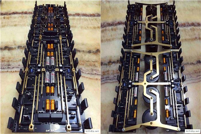 等机箱和散热器回来调末级,先粗略组装看下~跟设计图一模一样(两